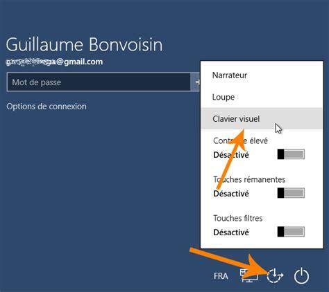 connexion bureau à distance sans mot de passe windows 10 comment afficher le clavier visuel virtuel