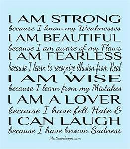 I Am Strong Because I Know My Weakness - Quotespictures.com