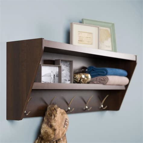 Foyer Shelves by Prepac 19 2 In X 48 5 In Floating Entryway Shelf And