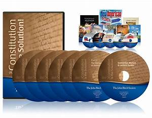 The Constitution Is The Solution Lecture Series Dvd Set W