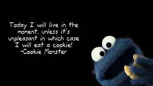 Cookie Monster quote wallpaper - 1206116