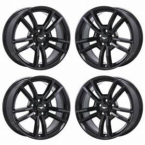 "18"" FORD MUSTANG BLACK WHEELS FACTORY OEM 2015 2016 2017 SET 4 10030 EXCHANGE 