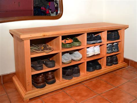 shoe cubby bench solid wood home design ideas