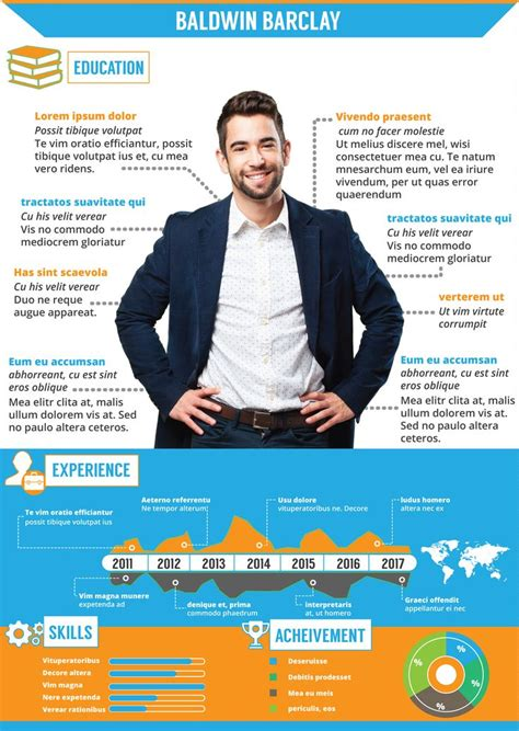 12 best free infographic resume templates images on