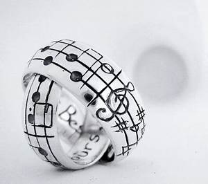 25 unusual and unique wedding rings for the modern couple With music wedding ring
