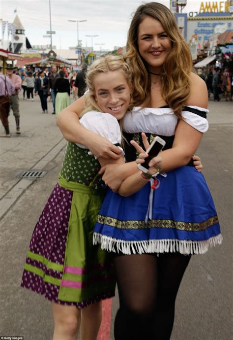 Lederhosen Low Cut Blouses And Gallons Of Beer Six Million People Expected To Pack Out Munich
