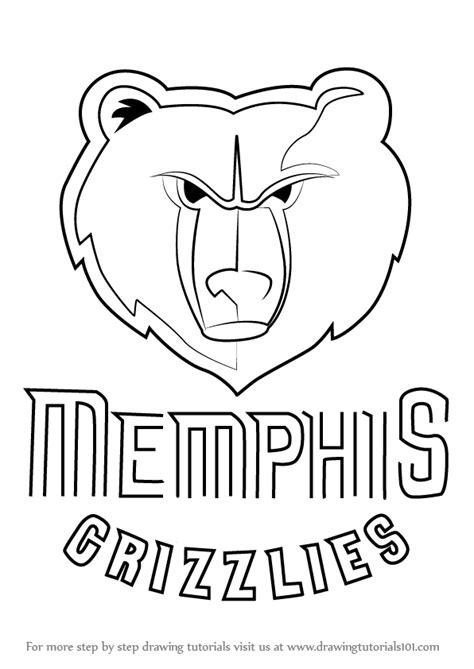 step  step   draw memphis grizzlies logo drawingtutorialscom