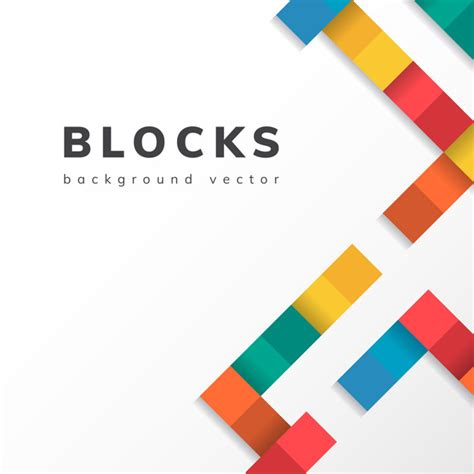Abstract Wallpaper Design For School by Colorful Blocks On Blank White Background Vector Vector