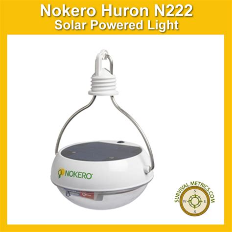 nokero huron n222 solar light bulb with phone charger