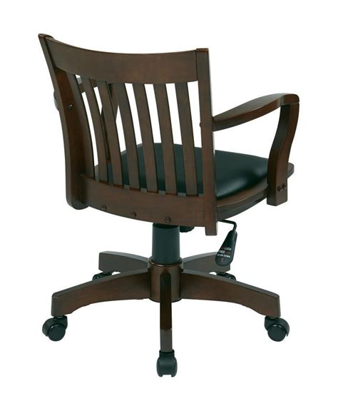 wood bankers chair with padded seat deluxe wood banker s chair with vinyl padded seat in