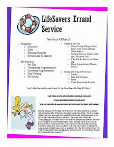 6 best images of senior errand service flyer sample of a With errand service invoice