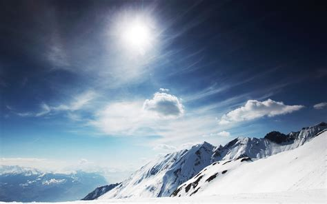 sunny snowy mountains wallpapers hd wallpapers id