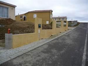 Faire Un Mur De Cloture : mur de cloture sur terrain en pente 11 messages ~ Premium-room.com Idées de Décoration