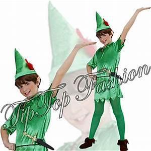 Peter Pan Kostüm Kind : jungen kinder peter pan kost m kleid outfit buch woche mit tunika g rtel hat ebay ~ Frokenaadalensverden.com Haus und Dekorationen