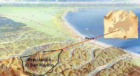 San Marino, geografia, collocazione geografica della ...