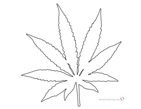 black and white coloring pages coloring pages pot leaf white and black free