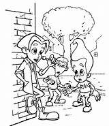 Jimmy Neutron Coloring Pages Episodes sketch template