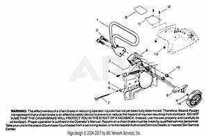 Poulan 3400 Gas Saw Parts Diagram For Chain Brake Assembly P  N 69208