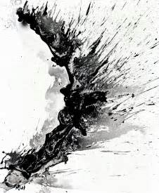 Black and White Abstract Art Design