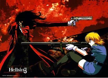 Hellsing Anime Alucard Seras Victoria Gun Gothic