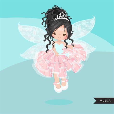 Pink Fairy Clipart Cute Fairy Graphics Brunettes Mujka