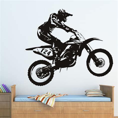 honda dirt bike wall sticker motocross motorbike wall