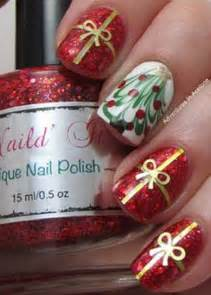 Gift wrap and christmas tree nail art design a perfect to