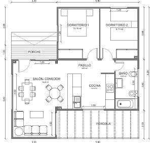 ideas  planos  casas pequenas