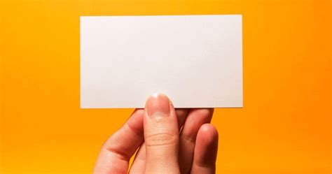 My New Creative Business Card Is Entirely Blank