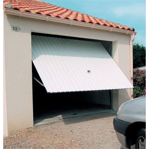 porte de garage basculante tubauto porte de garage basculante d 233 bordante sans rails panneau acier 224 rainures verticales