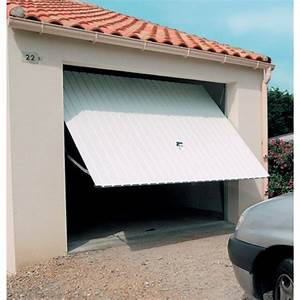Porte de garage basculante debordante avec rails panneau for Porte garage battant alu