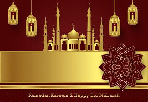 luxury ramadan  happy eid mubarak graphic  sugarv