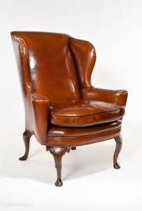 antique leather chair superb quality antique leather wing chair antiques atlas 1287