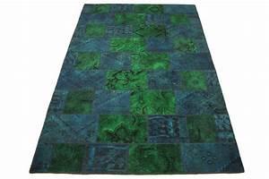 Teppich Blau Grün : patchwork teppich gr n blau t rkis in 300x200cm 1001 2012 bei kaufen ~ Yasmunasinghe.com Haus und Dekorationen