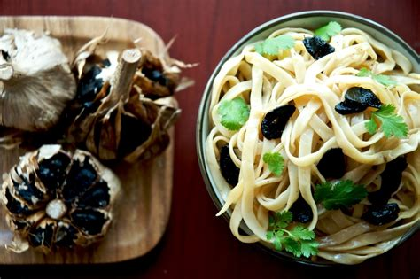 black garlic noodles umami blast white  rice couple