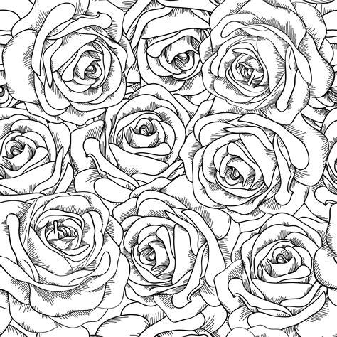 Coloriage De Roses Imprimer