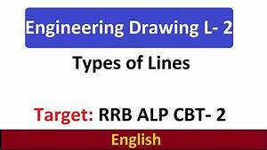 English  Type Of Lines  Engineering Drawing L