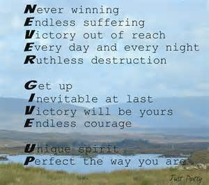 Poems About Never Giving Up