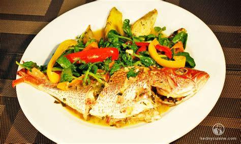 plat cuisiné sans sel le poisson gros sel est l une des façons typique de