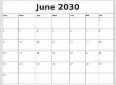 April 2030 Free Calendar Printable
