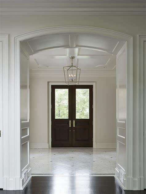 dramatic winnetka entry hallfoyer custom arch ceiling