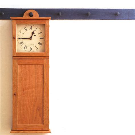 plan shaker wall clock finewoodworking