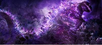 Godzilla Shin Wallpapers Purple Gojira Concept 4k