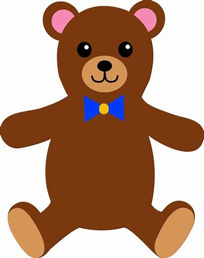 Bear Teddy Stuffed Clip Brown Childrens Bow
