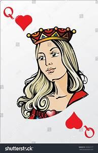 Queen Of Heart. Deck Romantic Graphics Cards Stock Vector ...