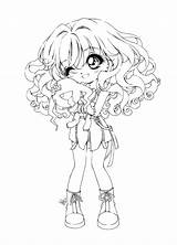 Coloring Chibi Pages sketch template