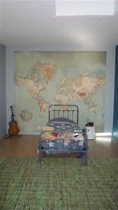 Carte Du Monde Deco : carte du monde d co et vintage dans la chambre ~ Teatrodelosmanantiales.com Idées de Décoration