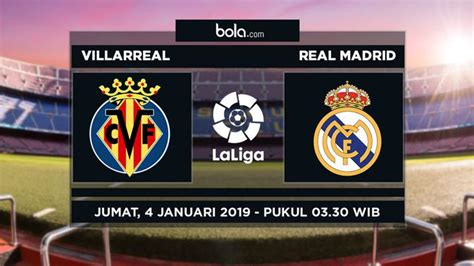 Live Streaming SCTV Villarreal vs Real Madrid di Liga ...
