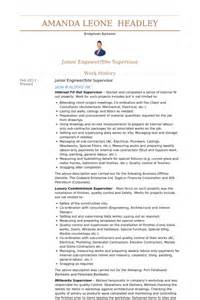 civil supervisor resume format resume civil supervisor