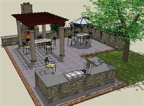 outdoor kitchen ideas drawing plans httplanewstalk